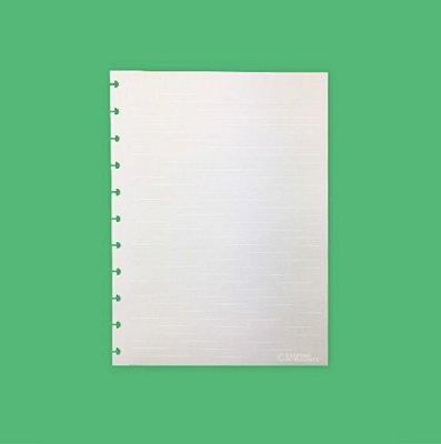 Refil Caderno Inteligente - Pautado Linha Branca Grande