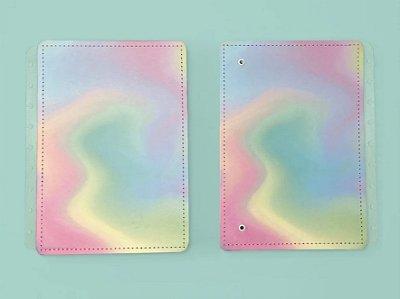 Capa e Contracapa Caderno Inteligente Candy Splash Médio