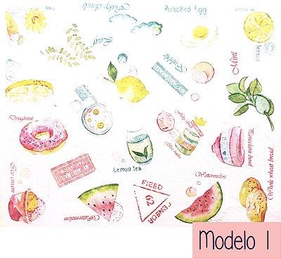 Kit de Mini Adesivos Ilustrados com 40 unidades
