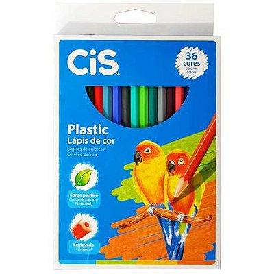 Lápis de Cor 36 Cores Plastic Cis