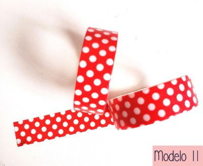 Fita Adesiva Washi Tape Estampada Mod 11 ao 18 - Avulsa