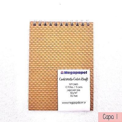 Caderneta Color 40f Sem Pauta - Megapapel