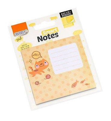 Bloco Smart Notes Brw Frame 3em1 90x90mm - Gato
