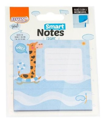 Bloco Smart Notes Brw Frame 3em1 90x90mm - Girafa