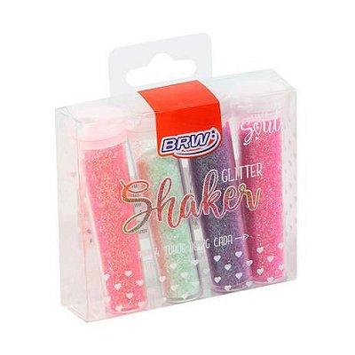 Gliter Shaker Brw Pastel 7g 4 Tubos