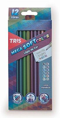 Lápis De Cor TRIS Mega Soft Color - Tons Metálicos