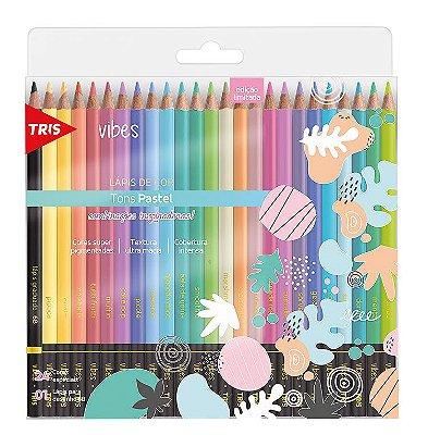 Lápis De Cor Vibes - Tons Pastel 24 Cores TRIS
