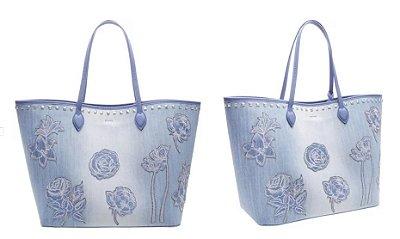 Shopping Bag Jeans Blue Schutz