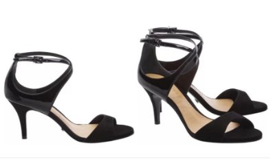 Sandália Glam Open Toe Black Schutz