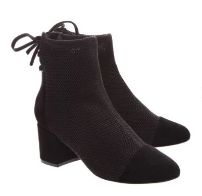 BOOTS BLOCK HEEL BLACK