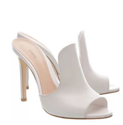 MULE OPEN TOE CURVE WHITE