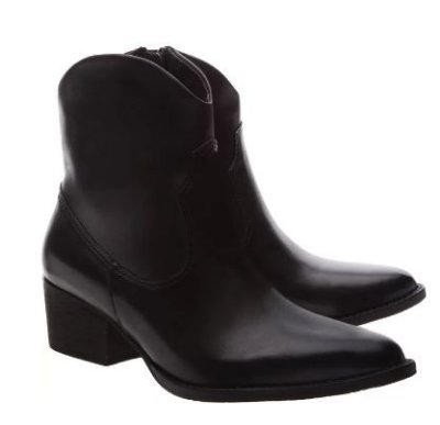NEW WESTERN BOOT MINIMAL BLACK