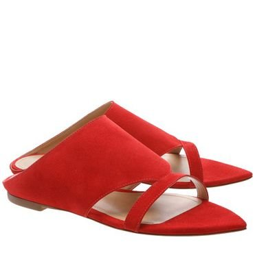 Pointy Flat Nobuck Red