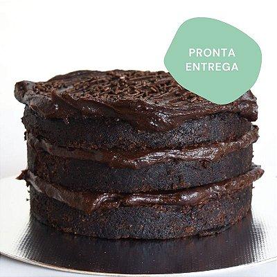 Bolo de Chocolate com Brigadeiro P (1kg)