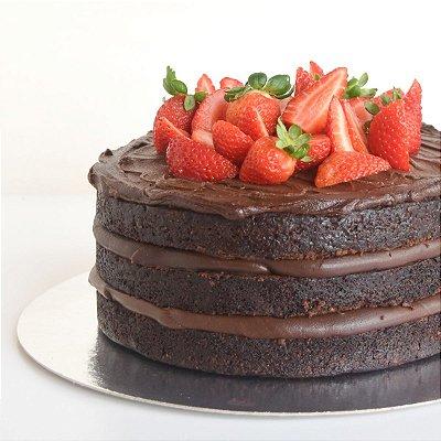 Bolo de Chocolate com Morango P (1kg)