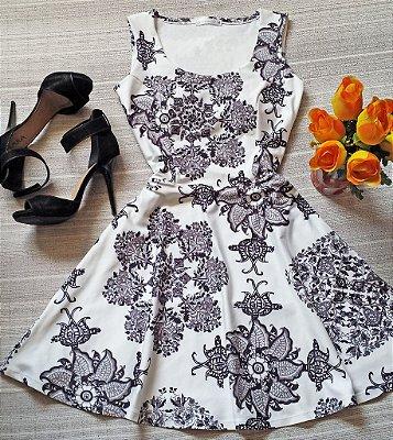 Vestido Neoprene Estampado