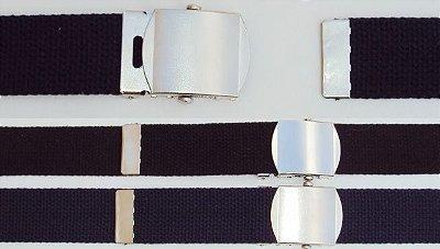 Cinto de Nylon, fivela de metal (tipo militar)