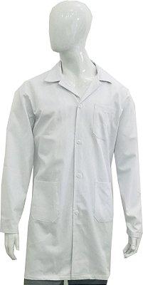 Jaleco manga longa 100% algodão