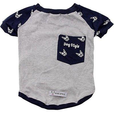 Pijama Dog Style cinza