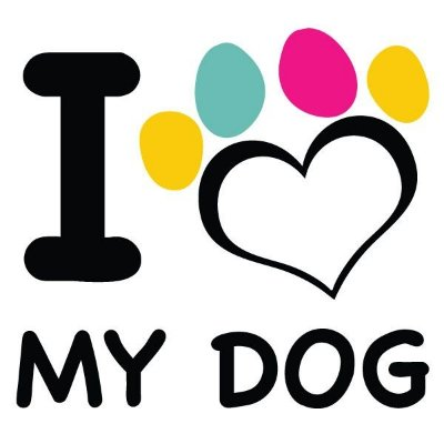 Adesivo ''I love my dog'' Branco