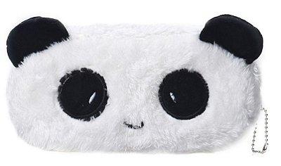 Necessaire Panda Pelúcia Zíper