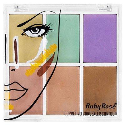 Kit Corretivo Ruby Rose Concealer Contour