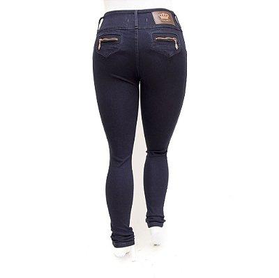 Calça Jeans Feminina Plus Size Cintura Alta Escura Thomix Levanta Bumbum