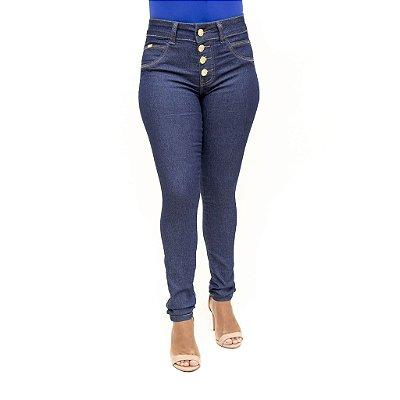 Calça Jeans Feminina Azul Escura Deerf Levanta Bumbum
