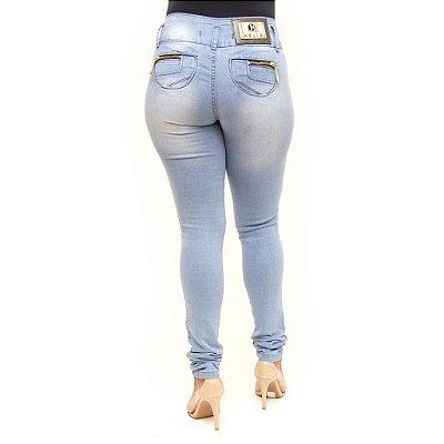 Calça Jeans Clara Feminina Legging Helix Levanta Bumbum
