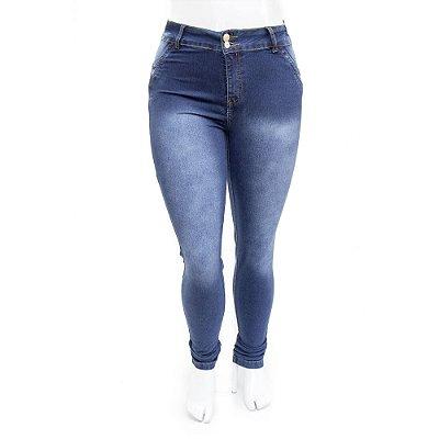 Calça Jeans Plus Size Feminina Azul Escura Hot Pants Cheris