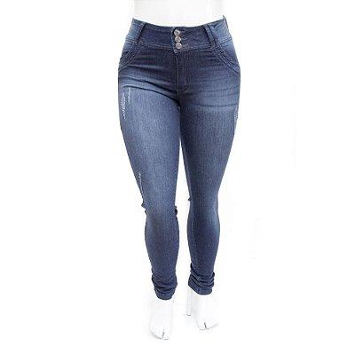 Calça Jeans Plus Size Feminina Azul Escura MC2
