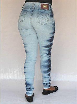 Calça Jeans Legging Deerf Delavê Levanta Bumbum