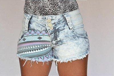 Shorts Jeans Boyfriend Manchado Jezzian