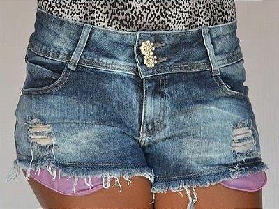 Shorts Jeans Boyfriend Rasgado Jezzian