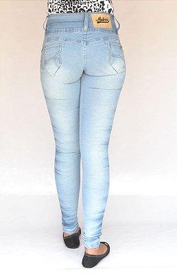 Calça Jeans Legging Meitrix Delavê Levanta Bumbum