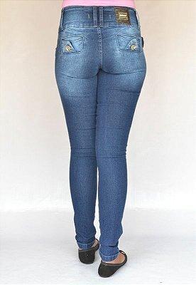 Calça Jeans Feminina Deerf Azul com Elastano