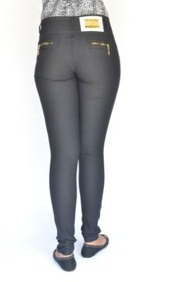 Calça Jeans Legging Bel Belita Preta Levanta Bumbum