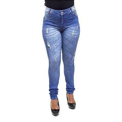 Calça Jeans Feminina Hot Pants Rasgadinha S Planeta