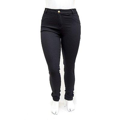Calça Jeans Plus Size Feminina Hot Pants Preta MC2