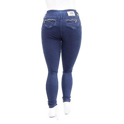 Calça Jeans Plus Size Azul Escura Cintura Alta Thomix
