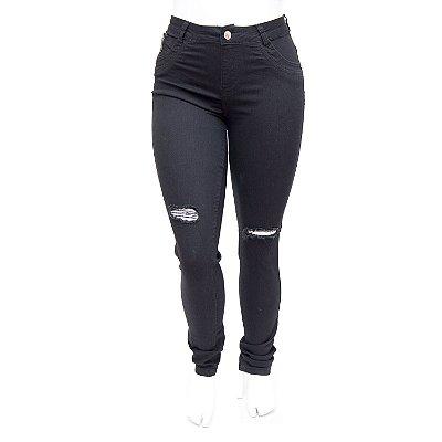 Calça Jeans Plus Size Flare Cintura Alta MC2 Nadija