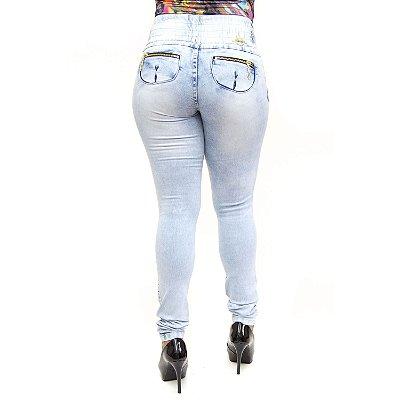 Calça Jeans Feminina Clara com Elástico Helix