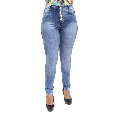 Calça Jeans Feminina Hot Pants Azul Credencial