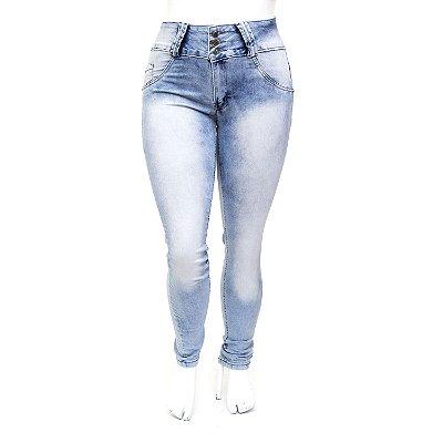 Calça Jeans Plus Size Feminina Clara Manchada MC2