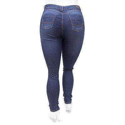 Calça Jeans Plus Size Feminina Azul Escura Helix com Lycra