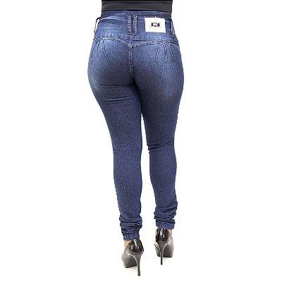 Calça Jeans Feminina Azul Escura MC2 com Lycra