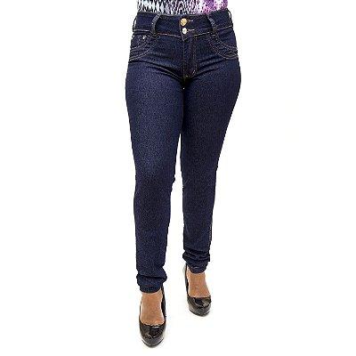 Calça Jeans Feminina Azul Escura Cheris com Lycra
