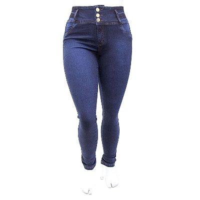 Calça Jeans Feminina Plus Size Azul Escura Thomix