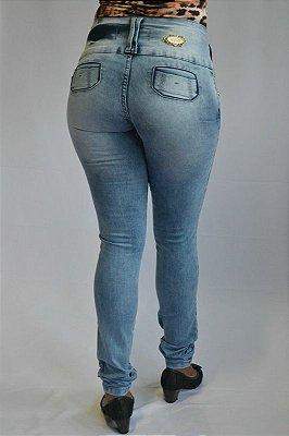Calça Jeans Manchada Deerf Modelo Legging Levanta Bumbum