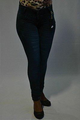 Calça Jeans Legging Escura Bel Belita Levanta Bumbum